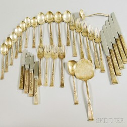 """Reed & Barton """"Classic Rose"""" Sterling Silver Partial Flatware Service"""