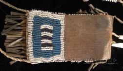 Southern Plains Beaded Leather Strike-a-Lite and Awl Case