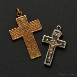 Two Pendant Crosses from the Duchess of Windsor