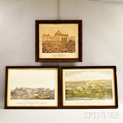 Four Framed Items Relating to Philadelphia