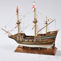 Wooden Ship Model of the Golden Hind