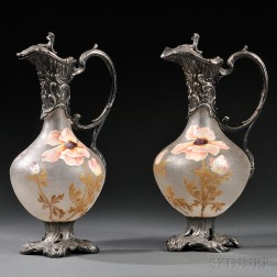 Pair of Victor Saglier Ewers