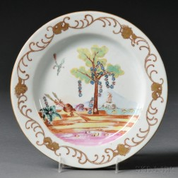 Chinese Export Porcelain Plate with Valentine or Altar of Love Pattern
