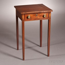 Federal Inlaid Mahogany One-drawer Stand