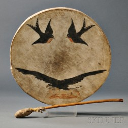 Plains Wood and Hide Drum