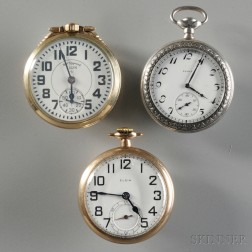 Three Elgin Open Face Pocket Watches