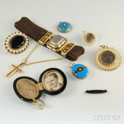 Small Group of Memorial and Mourning Jewelry