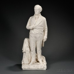Minton Parian Figure of Daniel Webster