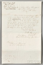 Farragut, David Glasgow (1801-1870) Autograph Letter Signed, from the U.S. Flagship Hartford