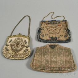 Three Embroidered Evening Bags