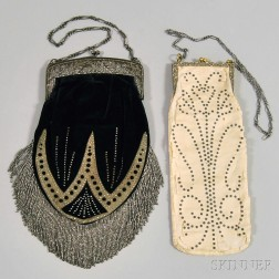 Two Beaded and Embroidered Evening Bags on Metal Clasp Framework