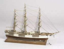Carved and Painted Wooden Model of the Vessel Sovereign of the Seas
