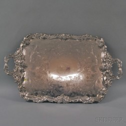 James Dixon & Sons Fancy Grapevine Silver-plated Serving Tray