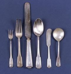 Eighty-seven Piece Frank W. Smith Sterling American Chippendale Pattern Partial Flatware