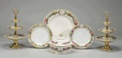 Assembled Paris Porcelain Partial Dinner Service