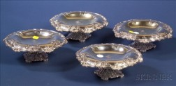Set of Four Tiffany & Co. Silver Soldered Tazzae