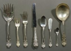 """Wallace Sterling Silver """"Sir Christopher"""" Pattern Flatware Service"""