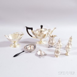 Seven Pieces of American Sterling Silver Hollowware
