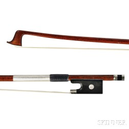 French Nickel-mounted Violin Bow, Marc Laberte