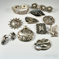 Group of Designer Sterling Silver Jewelry