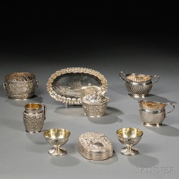 Nine Pieces of American Silver Hollowware