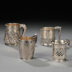 Four American Sterling Silver Mugs