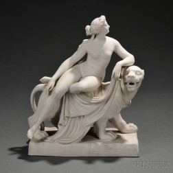 Minton Parian Model of Ariadne and the Panther