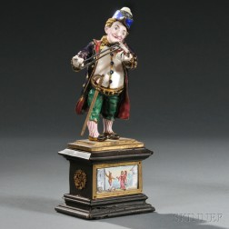 Viennese Silver, Enamel, and Freshwater Pearl Figure