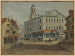 American/Anglo School, 19th Century      Faneuil Hall Boston U.S.A.
