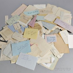 Large Collection of Autographs and Notes.