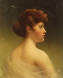 Walter Blackman (American, 1847-1928)  Young Woman in Profile