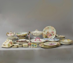 Group of Hand-painted European Porcelain
