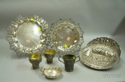 Three South American Silver Table Articles