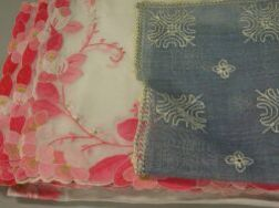 Large Assortment of Lace, Embroidered and Damask Table Linens.