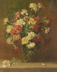 Emily Selinger (American, 1848-1927)  Still Life with Carnations