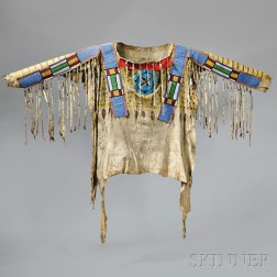 Blackfoot Beaded and Painted Antelope Hide Shirt