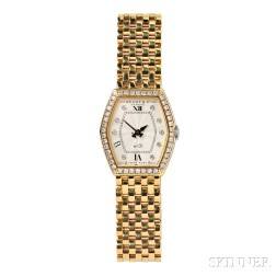 """Lady's 18kt Gold and Diamond """"No. 3"""" Wristwatch, Bedat & Co."""