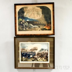 Two Framed Hand-colored Small Folio Engravings