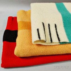 Three Hudson Bay Blankets.     Estimate $125-145
