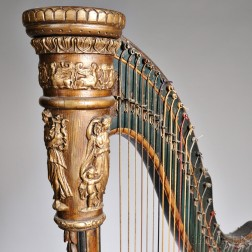 French Parcel-giltwood Harp