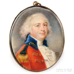 Attributed to John Smart (English, 1742/43-1811)      Portrait Miniature of Major Richard Gomonde of Madras.