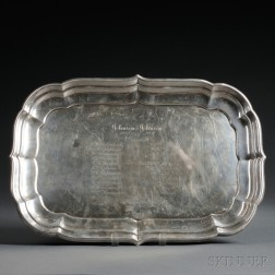 Reed and Barton Windsor   Pattern Sterling Silver Tray