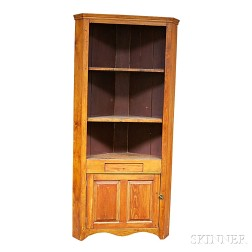 Country Pine Open Corner Cupboard