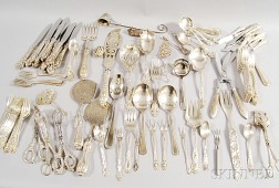 Miscellaneous Group of Sterling Silver and Silver-plated Flatware