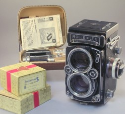 Rolleiflex TLR Camera and Accessories