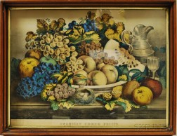 Framed Currier & Ives American Choice Fruits.