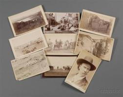 Nine Western Imperial Size Cabinet Card Photographs