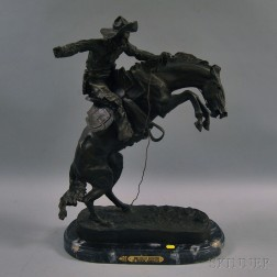 After Frederic Remington (American, 1861-1909)      Bronco Buster