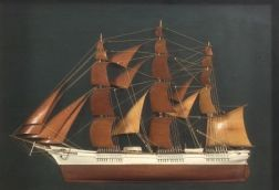 Half Model Diorama of the Clipper Ship Sovereign of the Seas