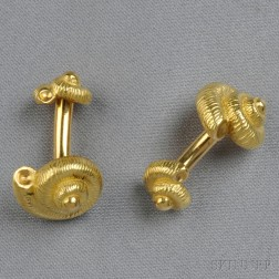 18kt Gold Cuff Links, Tiffany & Co.